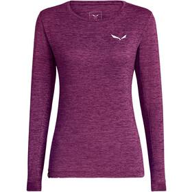 SALEWA Puez Melange Dry T-shirt à manches longues Femme, petunia melange